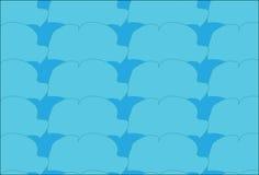Einfaches modernes abstraktes blaues Wolken- und Himmelmuster Lizenzfreie Stockfotos
