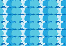 Einfaches modernes abstraktes blaues Wolkenmuster Stockfotos