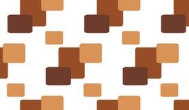 Einfaches modernes abstraktes braunes Fliesenmuster Stockbilder