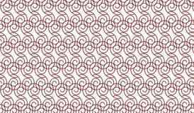 Einfaches modernes abstraktes braunes Strudelmaschenmuster Stockbilder