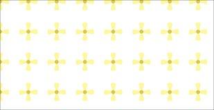 Einfaches modernes abstraktes gelbes Blumenmuster Lizenzfreie Stockfotografie