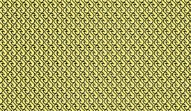 Einfaches modernes abstraktes gelbes Maschenmuster der gekrümmten Linie Stockfotografie