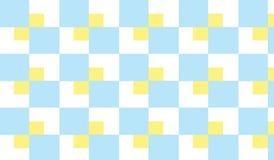 Einfaches modernes abstraktes gelbes und blaues kariertes Fliesenmuster Stockbild