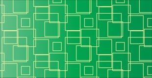 Einfaches modernes abstraktes grünes quadratisches Muster Lizenzfreie Stockbilder
