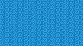 Einfaches modernes abstraktes hawaiisches blaues Ozeanmuster Lizenzfreies Stockfoto