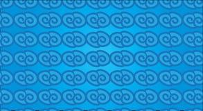 Einfaches modernes abstraktes hawaiisches horizontales blaues Wellenmuster Stockbilder