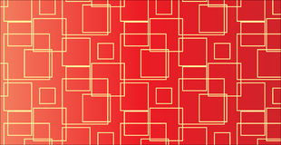 Einfaches modernes abstraktes Muster des roten Quadrats Stockfotografie