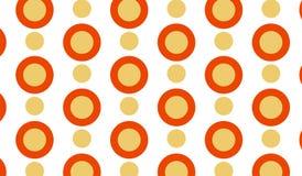 Einfaches modernes abstraktes orange Zielmuster Stockbilder