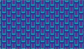 Einfaches modernes abstraktes purpurrotes und cyan-blaues Stammes- Skalamuster Lizenzfreie Stockbilder