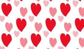 Einfaches modernes abstraktes rosa Herzmuster Lizenzfreies Stockbild