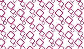 Einfaches modernes abstraktes rosa Quadrat deckt Muster mit Ziegeln Lizenzfreies Stockbild
