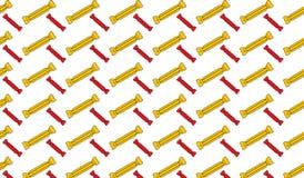 Einfaches modernes abstraktes rotes und gelbes Schokoriegelmuster Stockfoto