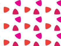 Einfaches modernes abstraktes rotes und rosa Skalamuster Stockbilder
