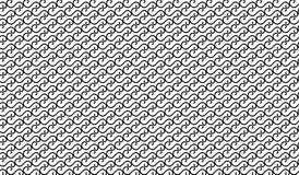 Einfaches modernes abstraktes schwarzes Maschenmuster der gekrümmten Linie Stockfoto