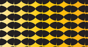 Einfaches modernes abstraktes schwarzes und orange Eimuster Lizenzfreie Stockfotos