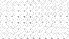 Einfaches modernes abstraktes Schwarzweiss-Kreismaschenmuster Stockfotos