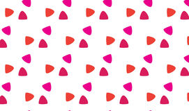 Einfaches modernes rotes und rosa Skalamuster Stockbild