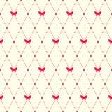 Einfaches Muster mit argyle Elementen und Schmetterlingen Stockfotos