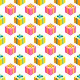 Einfaches Muster mit Geschenken Lizenzfreie Stockfotografie