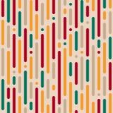 Einfaches nahtloses abstraktes Muster von gerundeten vertikalen Linien von Di Lizenzfreie Abbildung