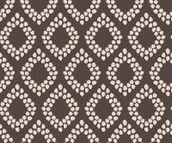 Einfaches nahtloses geometrisches elegantes des Damastvektor-Musters vektor abbildung