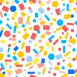 Einfaches nahtloses Muster der bunten Papierkonfettis, Vektor Lizenzfreie Stockbilder