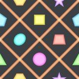 Einfaches nahtloses Muster mit geometrischen Zahlen für Kinderraum Stockfoto