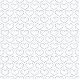 Einfaches nahtloses Muster mit Herzsymbol. Stockfotografie