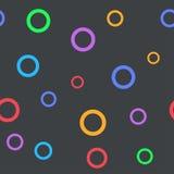 Einfaches nahtloses Muster mit Kreisen für Kinderraum Lizenzfreie Stockfotos