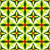 Einfaches nahtloses Muster von exotischen grünen Blättern Stockfoto
