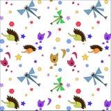 Einfaches nahtloses Muster von kleinen Tieren lizenzfreie abbildung