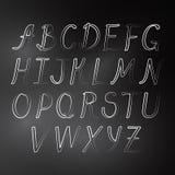 Einfaches nettes Alphabet auf Tafel Lizenzfreie Stockfotos