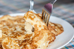 Einfaches Omelett Stockfoto