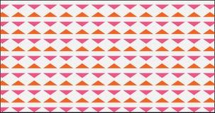 Einfaches orange und rosa Dreieckmuster Stockbilder