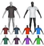 Einfaches Polohemd auf Mannequintorsoschablone Stockfotos