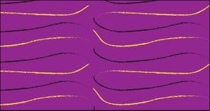 Einfaches purpurrotes und gelbes Anschlagmuster Lizenzfreie Stockbilder