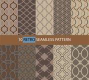 Einfaches Retro- nahtloses Muster stock abbildung