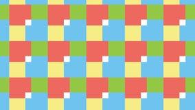 Einfaches RGB-Blockmuster Stockbild