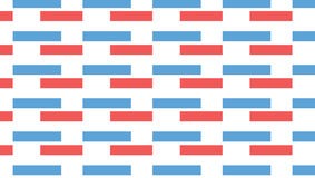 Einfaches rotes und blaues Rechteckmuster Stockfoto