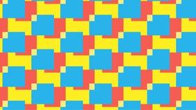 Einfaches rotes und cyan-blaues Blockmuster Lizenzfreie Stockfotografie