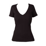 Einfaches schwarze Frau Hemd Lizenzfreie Stockbilder