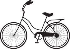 Einfaches schwarzes Bild des Fahrrades lizenzfreie abbildung