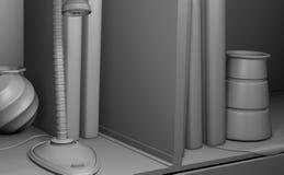 Einfaches Schwarzweiss-Regal Stockbilder