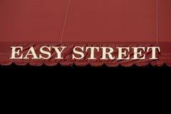 Einfaches Straßenschild Stockfoto