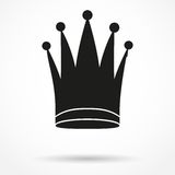 Einfaches Symbol des Schattenbildes der klassischen königlichen Königin Lizenzfreie Stockfotografie