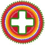 Einfaches symmetrisches Kreuz Lizenzfreie Stockfotos