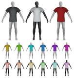 Einfaches T-Shirt auf Mannequintorsoschablone Lizenzfreies Stockfoto