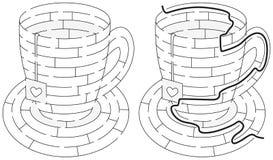 Einfaches Teelabyrinth Lizenzfreie Stockfotografie