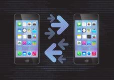 Einfaches Telefon, zum von Datenübertragung anzurufen Stockbild
