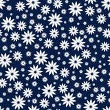 Einfaches und der Schönheitsblume nahtloses Muster Vector die Illustration, die für Gewebe oder Papierverpackungsdruck gut ist Ka Stockfoto